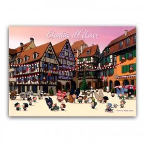 Carte postale Lovely Elsa - Amitiés d'Alsace