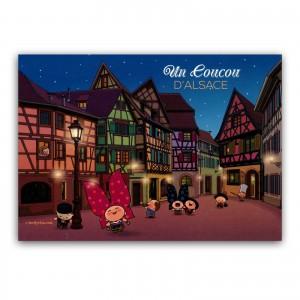 Carte postale Lovely Elsa - Un coucou d'Alsace