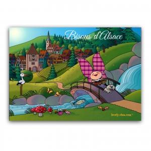 Carte postale Lovely Elsa - Bisous d'Alsace (2)