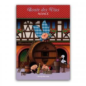 Carte postale Lovely Elsa - Route des vins Alsace