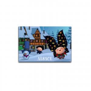 Magnet rigide Lovely Elsa - Sous la neige (R1)