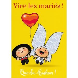 Carte de voeux Lovely Elsa - Vive les mariés