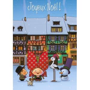 Carte de voeux Lovely Elsa - Joyeux Noël (bleu)