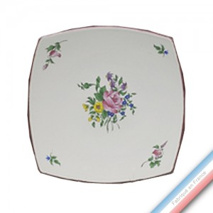 Collection REVERBERE table  - Assiette plate carrée - 31,5 x 23 cm -  Lot de 4