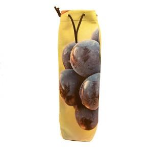 Sac 1 bouteille velours collection vignes - décor 2