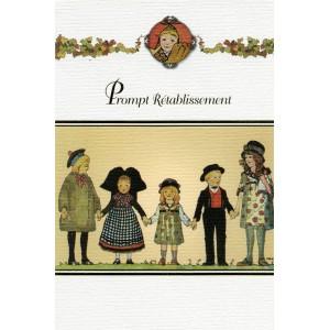 """Carte de voeux Alsace Hansi  """"Prompt rétablissement"""""""