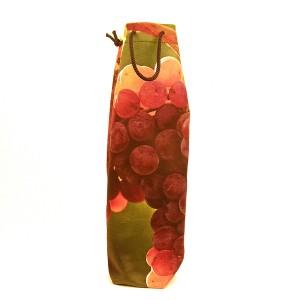 Sac 1 bouteille velours collection vignes - décor 5