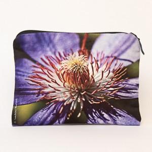 Porte-monnaie collection fleurs - Clématite violette