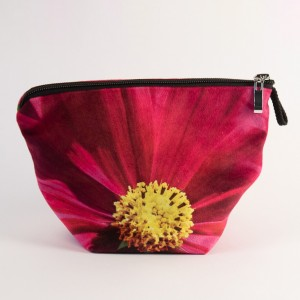 Vide poche + zip collection fleurs - Cosmo fuschia