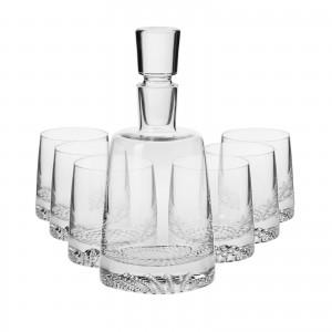 """Coffret 7 pièces service à Whisky """"FJORD"""" - cristallin sans plomb"""