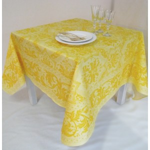 "Nappe rectangulaire ""Topkapi"" bouton d'or"