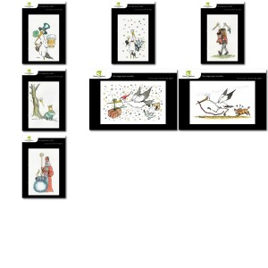 Lot de 7 cartes postales - Dessins Nicolas Mengus - CIGOGNE 1 HUMORISTIQUE