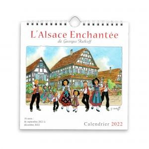 Calendrier L'Alsace Enchantée 2022 de Ratkoff  (19,5cm x 20cm)