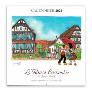 Calendrier L'Alsace Enchantée 2022 de Ratkoff (30cm x 30cm)