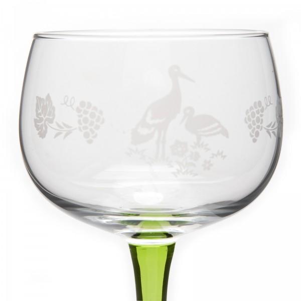 6 verres vin blanc d 39 alsace motif cigogne mat. Black Bedroom Furniture Sets. Home Design Ideas