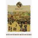 "Greeting card Alsace Hansi ""Bonne fête"" - Village party"