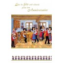 "Greeting card Alsace Ratkoff - ""Fête d'anniversaire"" - (birthday party)"
