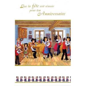Carte de voeux Alsace Ratkoff - Fête d'Anniversaire