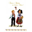 "Greeting card Alsace Ratkoff - ""Amour et bonheur"" - (Love and happiness)"