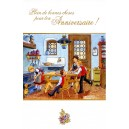 "Greeting card Alsace Ratkoff - ""Anniversaire à la cuisine"" - (birthday at the kitchen)"
