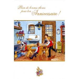 Carte de voeux Alsace Ratkoff - Anniversaire à la cuisine