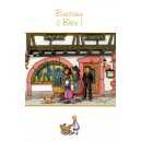 Greeting card Alsace Ratkoff - &quot;Bienvenue &agrave; b&eacute;b&eacute;&quot; - (welcome to the baby) - baby carriage