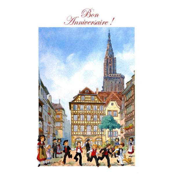 Carte De Voeux Alsace Ratkoff Bon Anniversaire Cathedrale