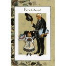 Greeting card Alsace Hansi &quot;F&eacute;licitations&quot; - (congratulations)
