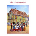 Greeting card Alsace Ratkoff - &quot;Bon Anniversaire&quot; - (happy birthday) - family