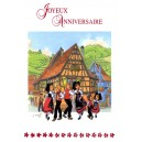 "Greeting card Alsace Ratkoff - ""Joyeux anniversaire"" - (happy birthday) - dance"