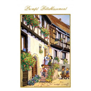 """Carte de voeux Alsace Ratkoff - """"Prompt Rétablissement"""""""