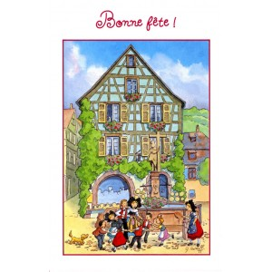 "Greeting card Alsace Ratkoff - ""Bonne Fête"" - (happy saint's name)"