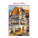 Greeting card Alsace Ratkoff - &quot;Pens&eacute;e d&#039;Alsace&quot; - (friendly thought from Alsace) - girls on a bench