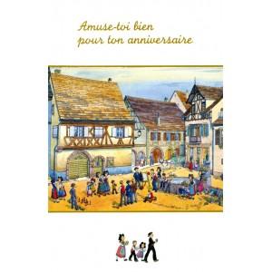 """Carte de voeux Alsace Ratkoff - """"Amuse-toi pour ton anniversaire"""""""