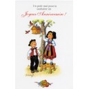 Greeting card Alsace Ratkoff - &quot;Joyeux anniversaire&quot; - (happy birthday) - bird&#039;s nest