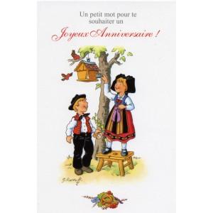 Carte de voeux Alsace Ratkoff - Joyeux anniversaire nid d'oiseaux