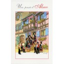 "Greeting card Alsace Ratkoff - ""Une pensée d'Alsace"" - (friendly thought from Alsace)"
