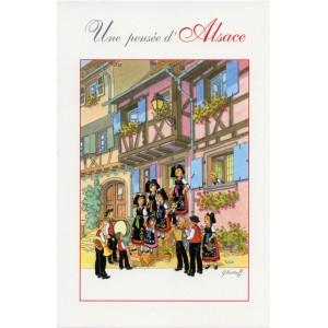 """Carte de voeux Alsace Ratkoff - """"Une pensée d'Alsace"""""""