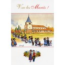 "Greeting card Alsace Ratkoff - ""Vive les mariés"" - (long live the newlyweds)"