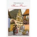"Greeting card Alsace Ratkoff - ""Heureux parents"" - (happy parents)"