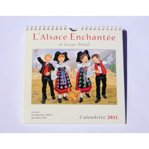 """Calendrier """"L'Alsace Enchantée 2011"""" de Ratkoff  (19,5cm x 20cm)"""