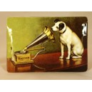 "varnished plate  ""La voix de son maître"" (dog)"