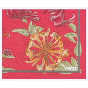 "Paquet de 20 serviettes en papier ""Jardins"" fond fuchsia"