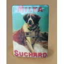 "Plaque vernie ""Suchard milka"""