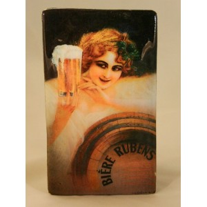 """Plaque vernie """"Bière, Rubens"""""""