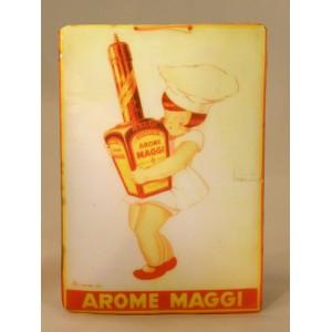 "Plaque vernie ""Arôme Maggi"""