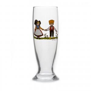 """6 Verres à bière """"Helvetia"""" motif HANSI"""