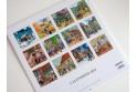 """Calendrier """"L'Alsace Enchantée 2014"""" de Ratkoff (30cm x 30cm)"""