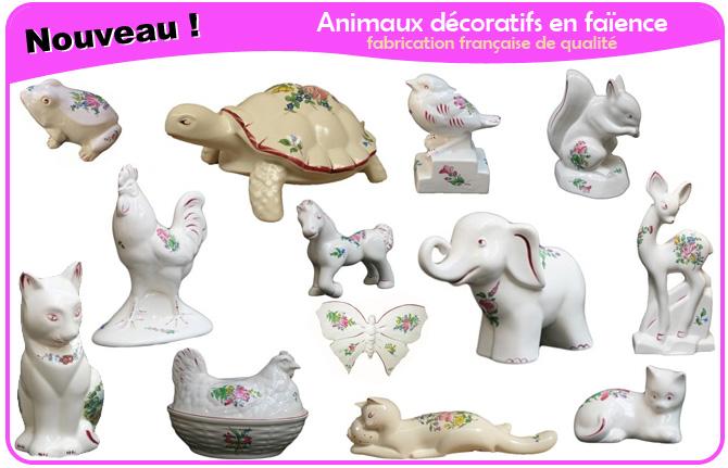 animaux faience decoratifs
