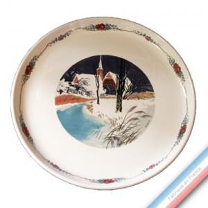 Collection OBERNAI - Assiette plate Kougloff - Diam 25 cm - Lot de 4
